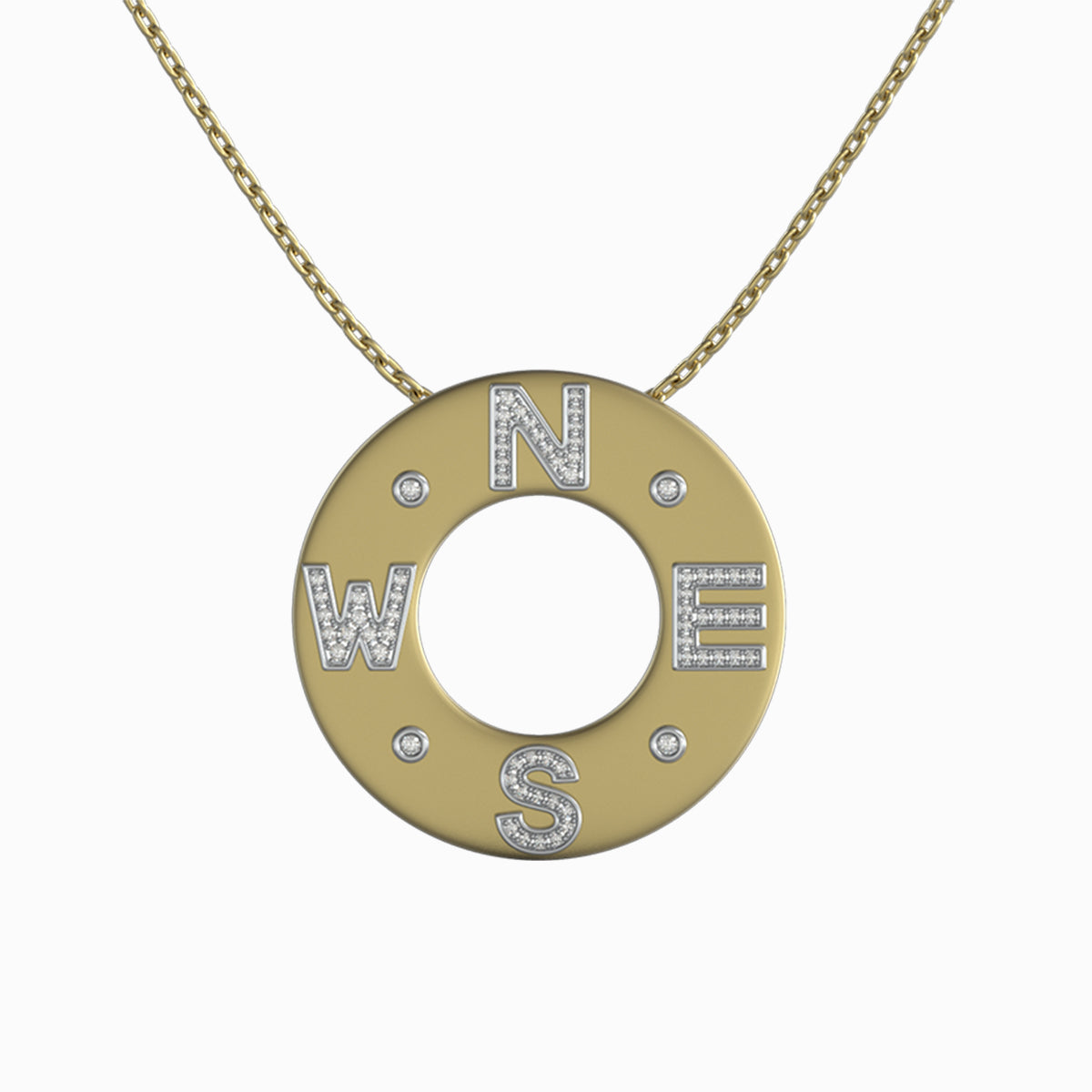 Shimansky True North Pavé Pendant 18k yellow gold