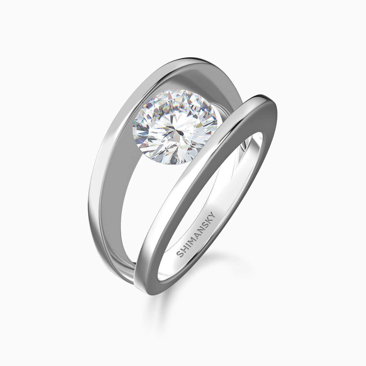 60c7be9979a2be Millennium Diamond Ring Platinum | Shimansky New York