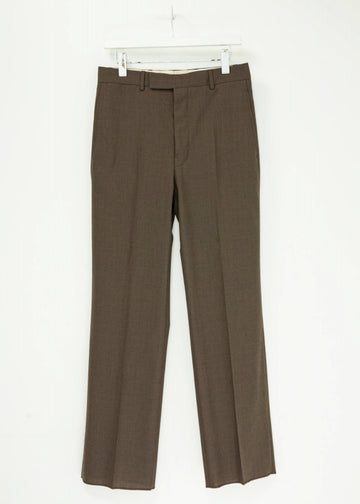LEMAIRE  SUIT PANTS ポリエステル 46  茶 その他ボトムス