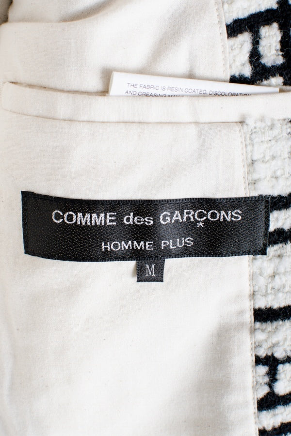 COMME des GARCONS HOMME PLUS 18AW ウール M  白 その他アウター [堀江]