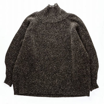 JAN-JAN VAN ESSCHE 19AW KNIT#47 OVERSIZED TURTLE NECK ウール DIRK BROWN MERICHAN  茶 ニット [京都]