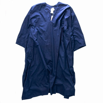JAN-JAN VAN ESSCHE 19 TUNIC#20 OVERRIZED V-NECK TUNIC コットン S DIRK INDIGO  紺 チュニック [東京]