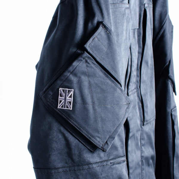 MOUT RECONTALIOR ト リ ー ー ト リ ー コ ン ン タ ー ラ ー 18AW ROYAL NAVY Moruskin PCS jacket polyester 46 black military jacket