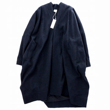 JAN-JAN VAN ESSCHE 19AW COAT#20 OVERSIZED FIT COAT ウール BLACK MELE WOOL / COTTON DRILL  黒 ステンカラーコート [京都]