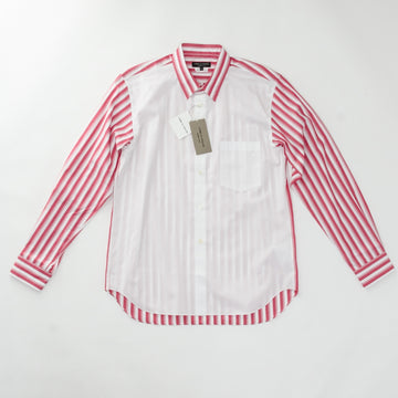 COMME des GARCONS HOMME PLUS 20SS レジメンタルストライプブロードシャツ  コットン S  赤 長袖シャツ