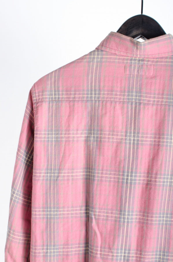 SAINT LAURENT PARIS 16 Stainless Steel SAINT LAURENT PARIS Saint Laurent Paris [16 Stainless Steel USED processing check pattern shirt / XS] USED Cotton XS long-sleeved shirt
