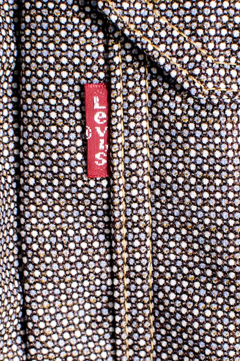 JUNYA WATANAB Ex Levi `s 17 Stainless Steel Levis collaboration floral switching jacket wool M denim jacket