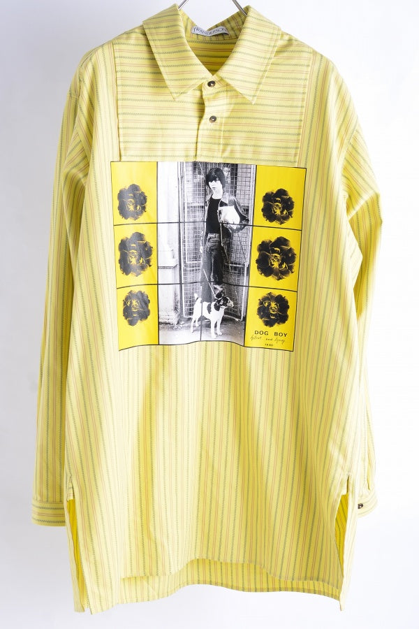JWANDERSON G + G PRINT Tunic Shirt / 36 Cotton 36 Yellow Long Sleeve Shirt