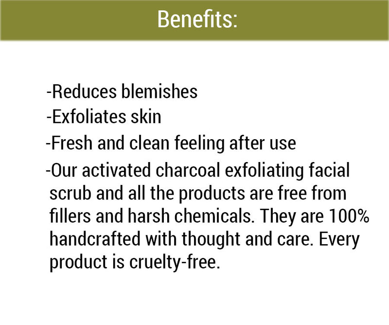 Activated Charcoal Exfoliating Facial Scrub benefits