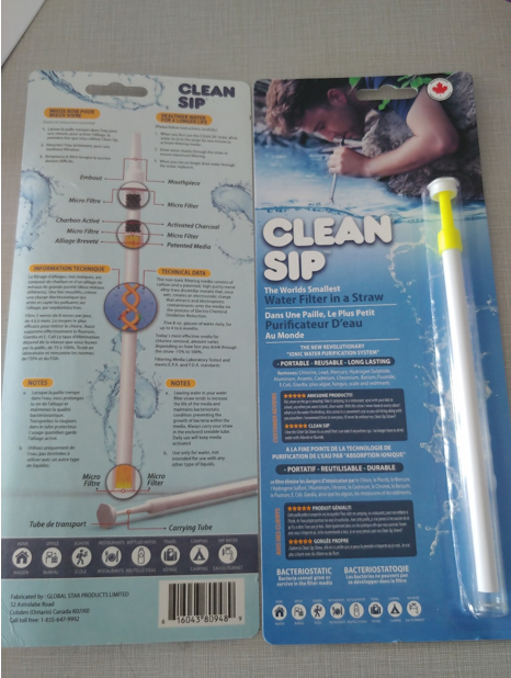 Clean Sip the Best Portable Water Filter Straw