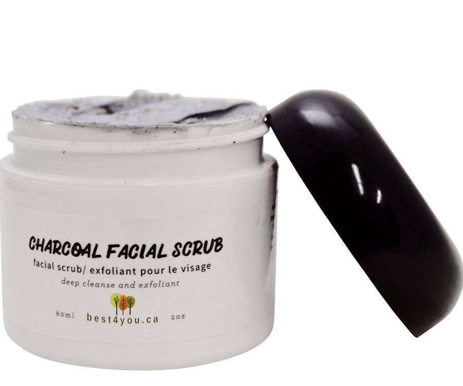 Activated Charcoal Exfoliating Facial Scrub
