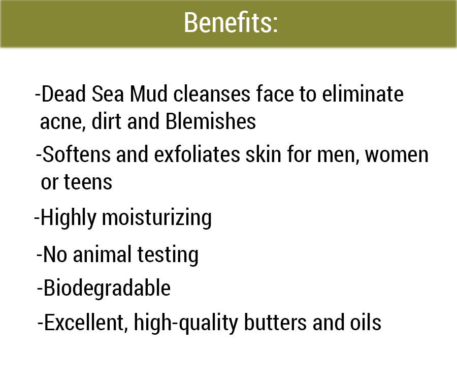 Dead Sea Mud Soap benefits
