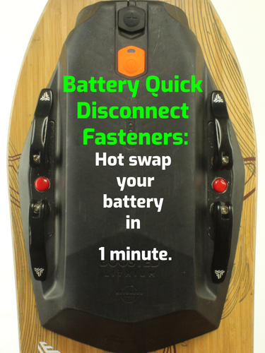Quick Disconnect Boosted Board Battery - Swap your battery in 1 minute