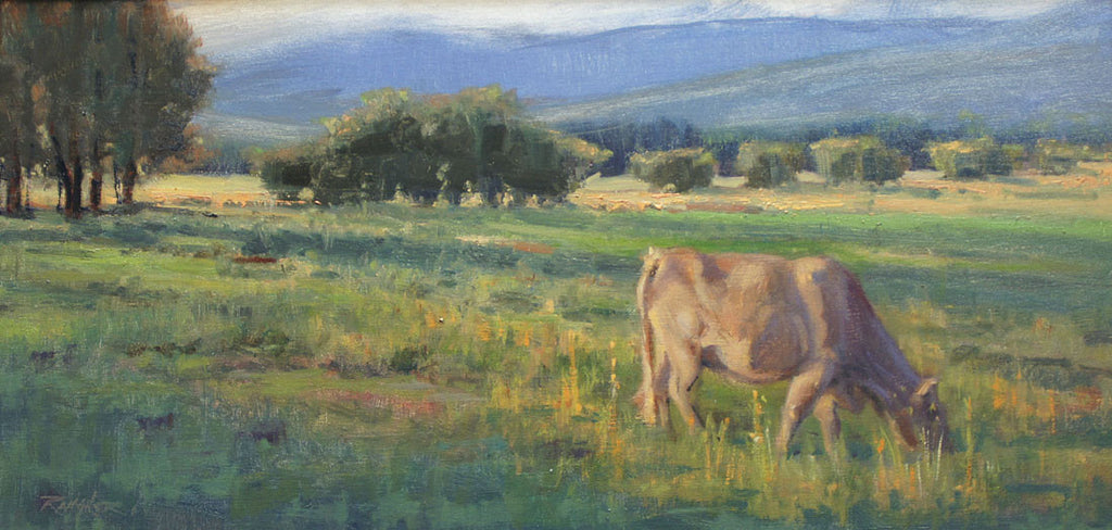Pastoral oil painting by Mike Rangner