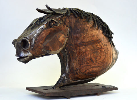 """Adept"" - Horse Head Sculpture by Tolley Marney"
