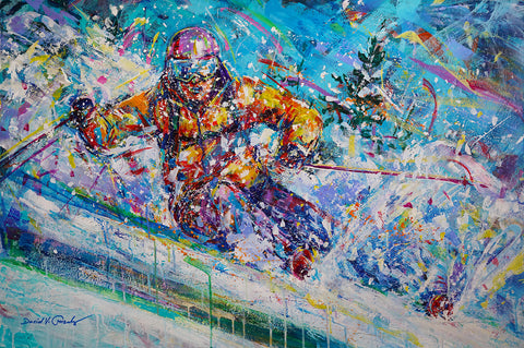 """Carving Up The Snow"" by David V. Gonzales"