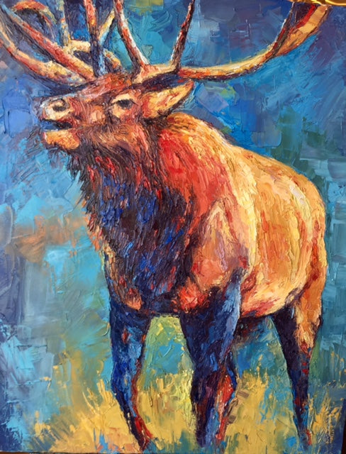 Elk in Living Color- Peggy Ann Thompson