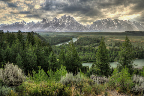 """Teton Sunstorm"" Gallery Metal Float photography by Ryan Smith"