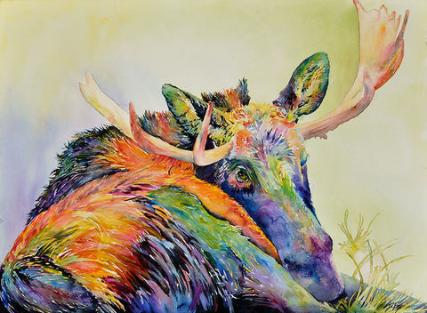 Mellow Moose- Deb Fox Original and Giclee