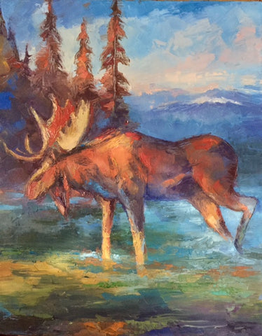 Northwest Moose- Peggy Ann Thompson