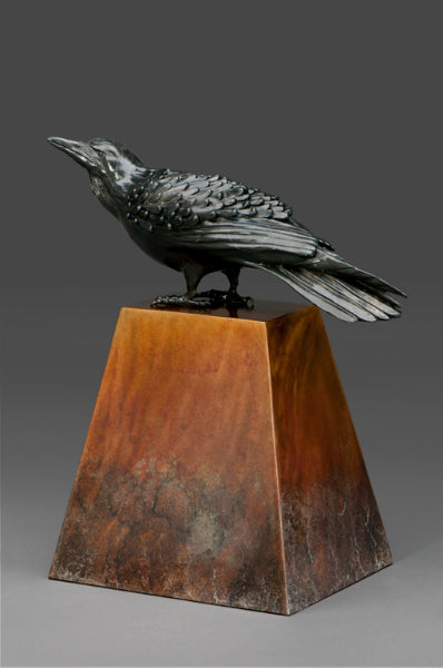Raven on Stainless Steel- Kim Chavez