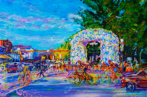 Town Square Morning- David V. Gonzales