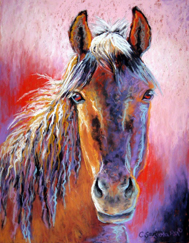 Contemporary pastel horse painting