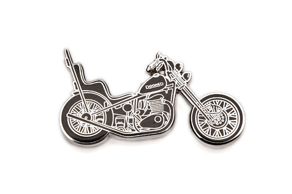 DOOMEDmoto lapel pin
