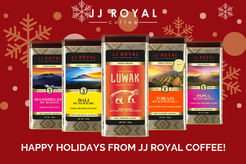 JJ Royal coffee happy holidays