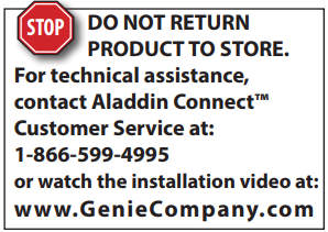 Aladdin Connect customer service at 1-866-599-4995