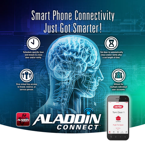 Smart phone connectivity just got smart with Smart garage door technology Aladdin Connect
