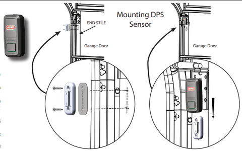 Mounting the door position sensor for Aladdin Connect by Genie