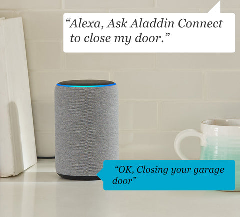 Aladdin Connect smart garage door controller works with Alexa