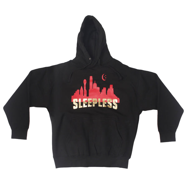 Sleepless Skyline Black Hoodie