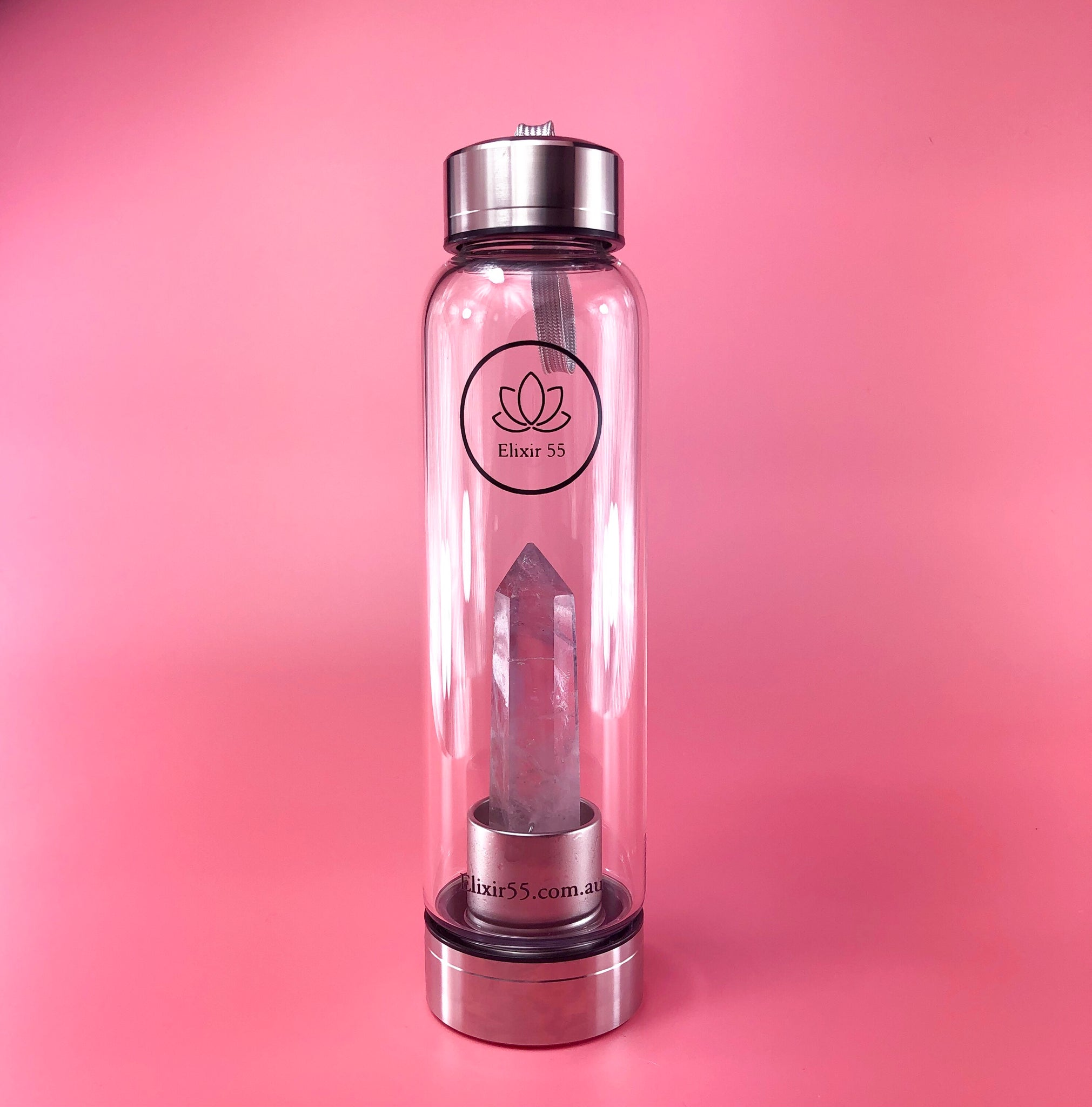 Amethyst Crystal Water Bottle - Elixir 55