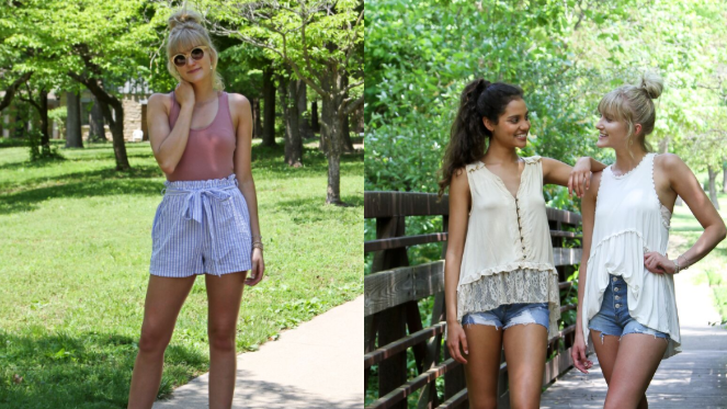 high waist shorts collage
