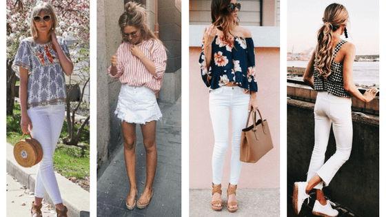 Statement tops with white jeans