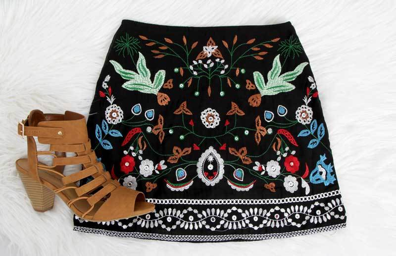 Embroidered Skirt 2