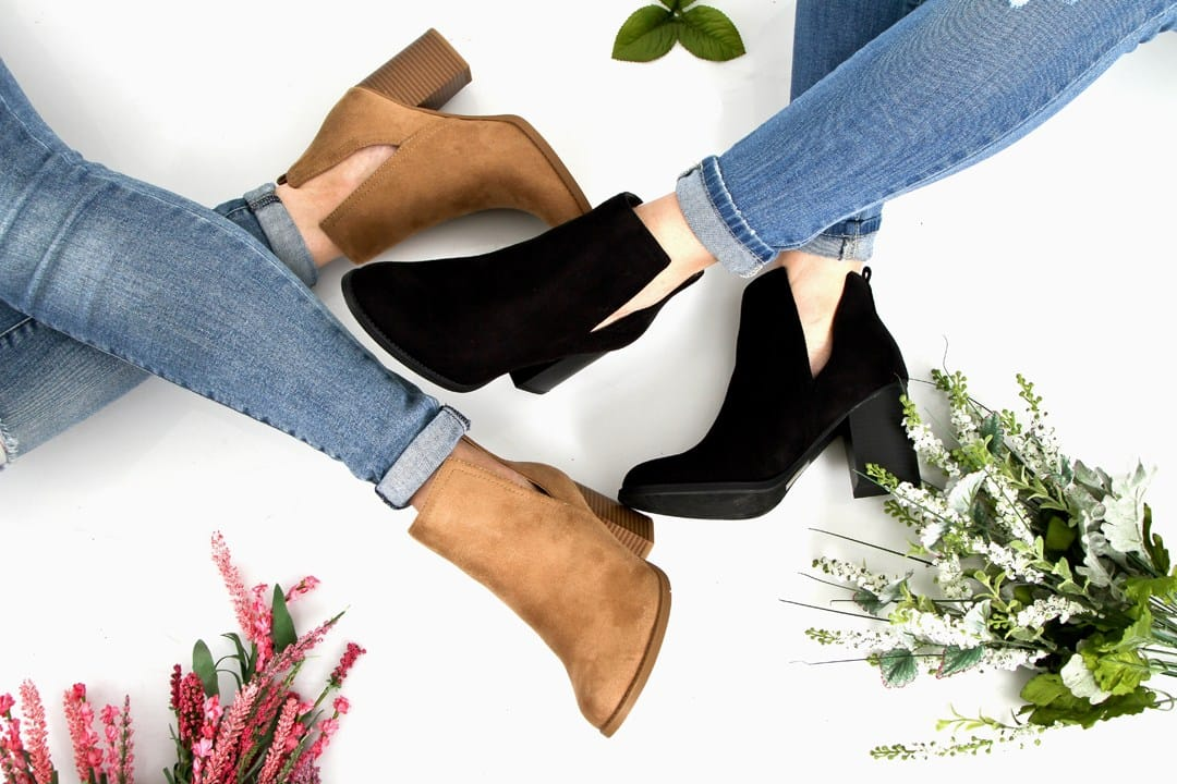 v ankle boots