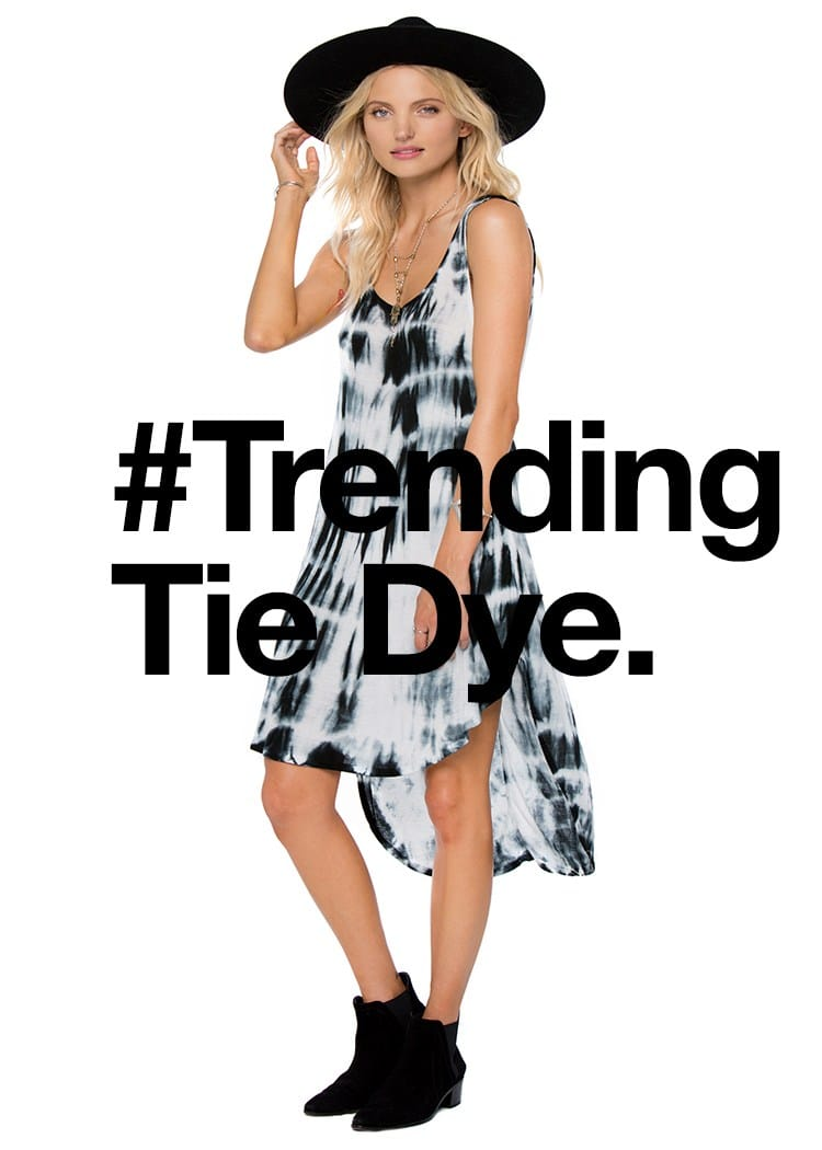 Stand out from the crowd in this Amuse Society tie dye tank dress with back detail