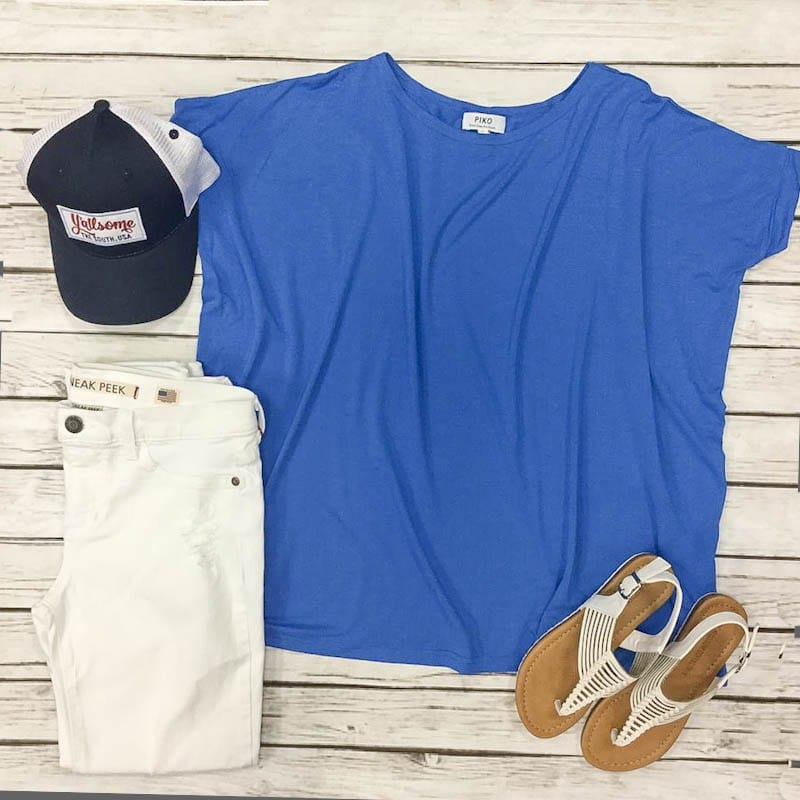 blue piko shirt