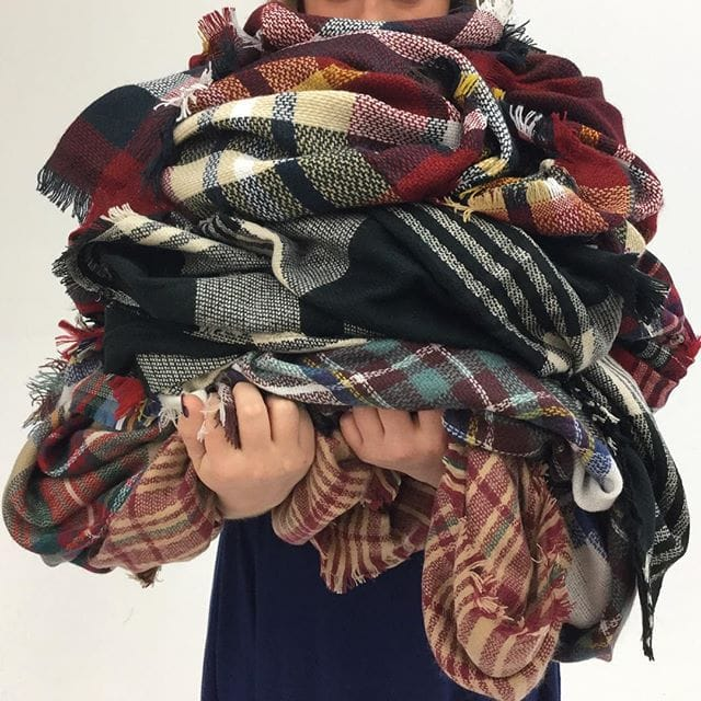 plaid scarves gift ideas