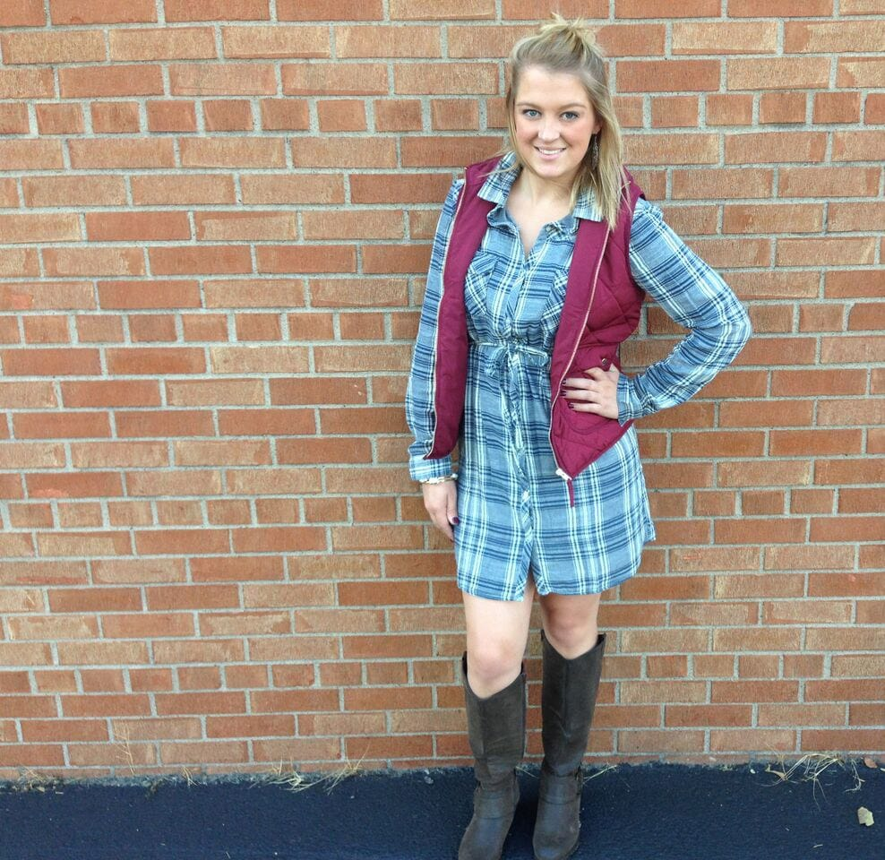 Plaid dress for game day