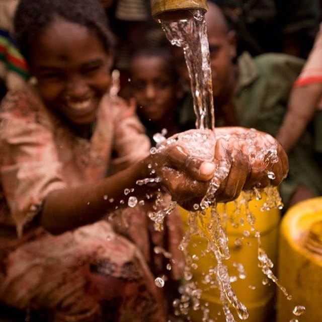 Photo c/o @charitywater on Instagram