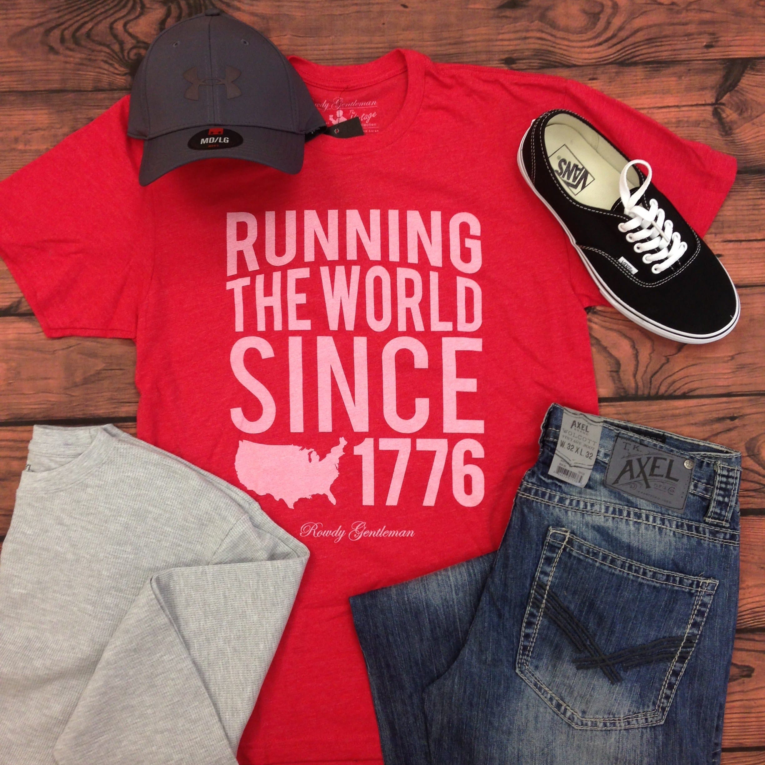 mens running the world since 1776 rowdy gentleman
