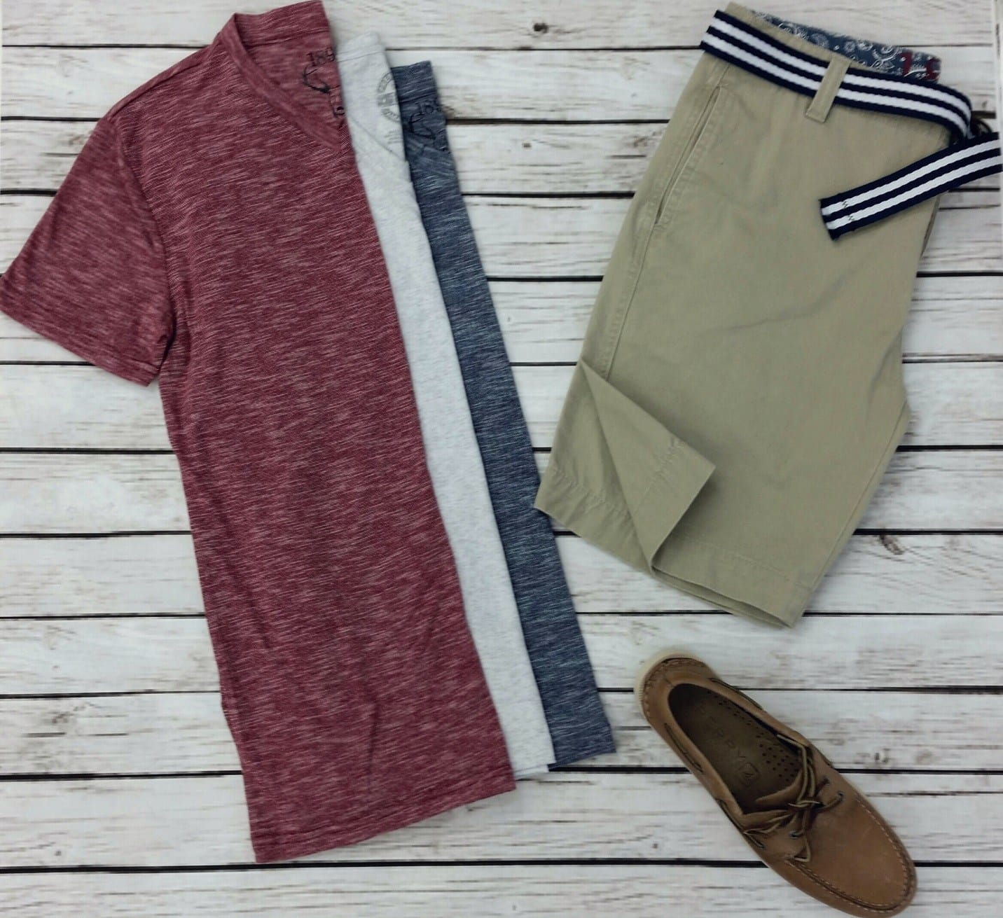 1897 flat front shorts sperry for men