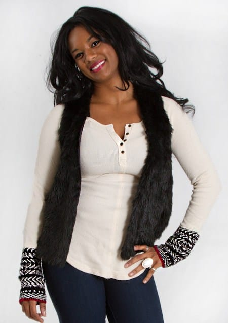Ways to wear a fur vest