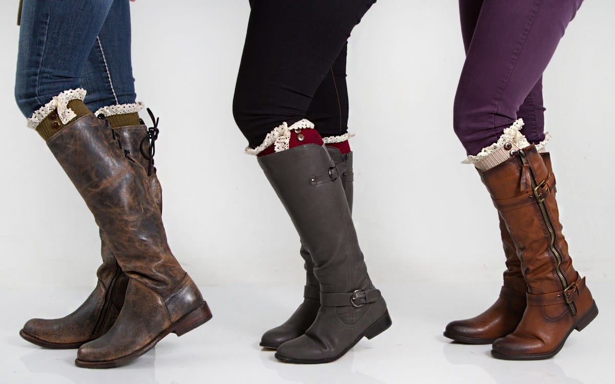riding boots with boot cuffs