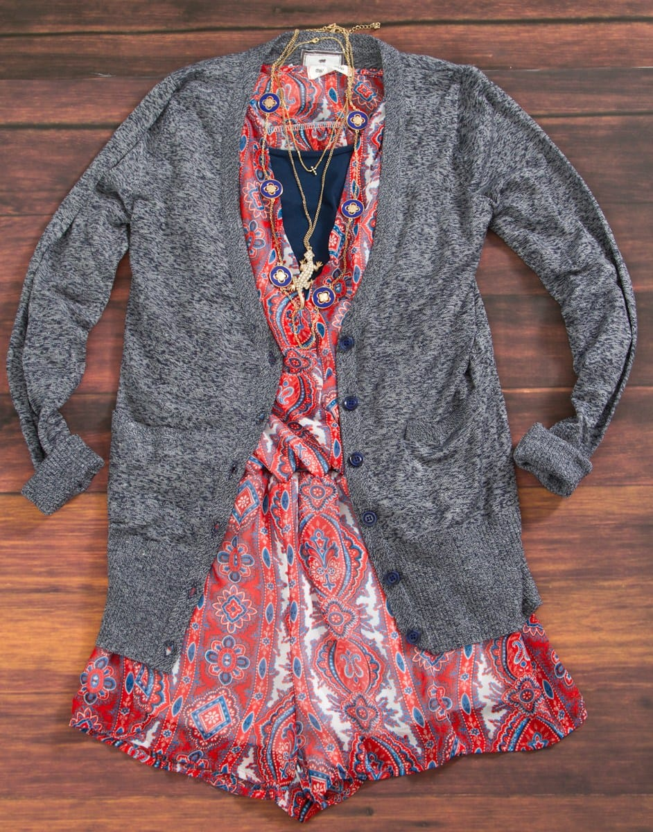 Poof Cardigan with Romper