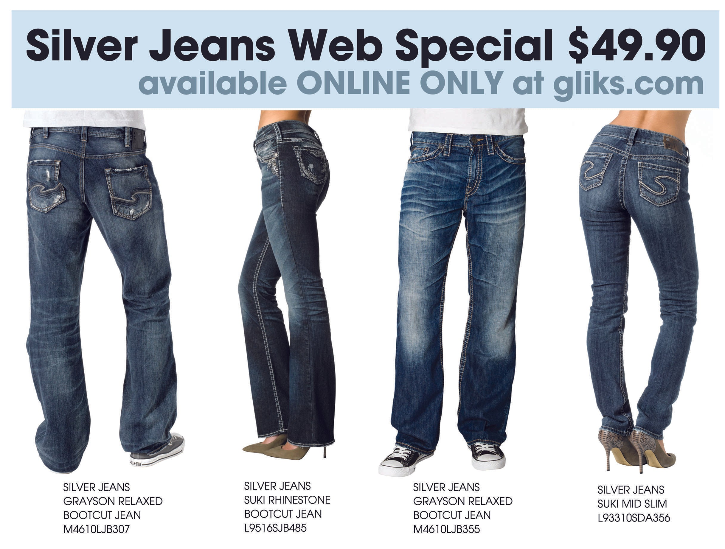 Mens-and-womens-Silver-Jeans-Sale